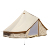 Waterproof cotton canvas fabric luxury glamping 4m 5m 6m 7m stove outdoor bell tent for sale