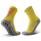 Wholesale non slip men crew compression sports socks custom logo soccer football running socks