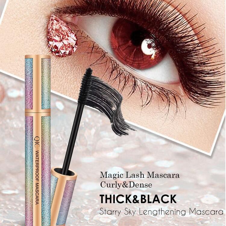 Private Label Custom Make Up Life Curling Thick Lengthening Mascara Waterproof Silk Fiber 4D Mascara For Eyelash Extensions