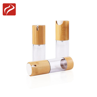 Plastic Dispenser Lotion Pump Airless Bamboo Bottle