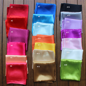 55*55cm square satin wholesale custom silk scarves scarf