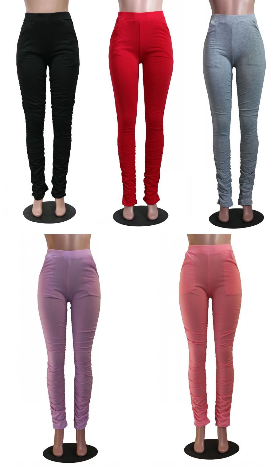 2020 สินค้าใหม่ซ้อน legging ผู้หญิงเหงื่อกางเกง ruched Joggers กางเกงกีฬากางเกง