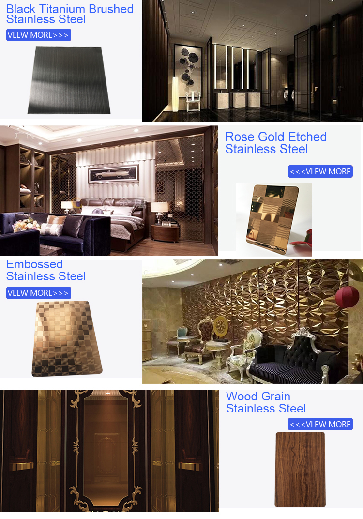 JYF2 Foshan Rose gold etching Color Stainless steel Decorate sheet 304 Stainless steel sheet for elevator decorative