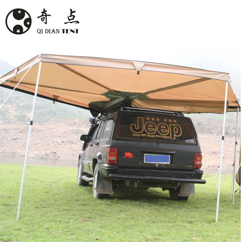 New Retractable Polygon Batwing Awning Tent420D Oxford Trailer Awning фото
