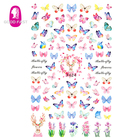 Nail Art Sticker 3d Nail Art Wholesale Supplies 3D Simulation Butterfly Nail Decal Ultra-thin Adhesive Nail Art Sticker
