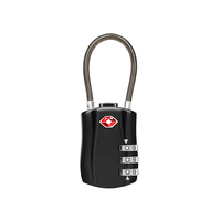 Travelsky Custom Approved 3-Dial Combination Travel TSA Cable Luggage Lock