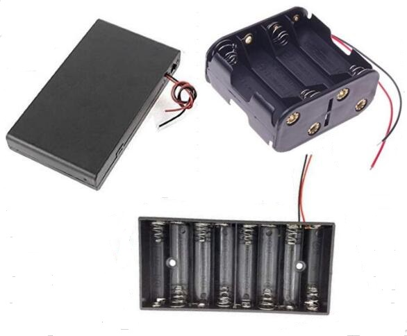 4.5V 3 AA 3AAA Plastic Battery Holder with cover switch / lead wire / pins / jst connector / 9v snap