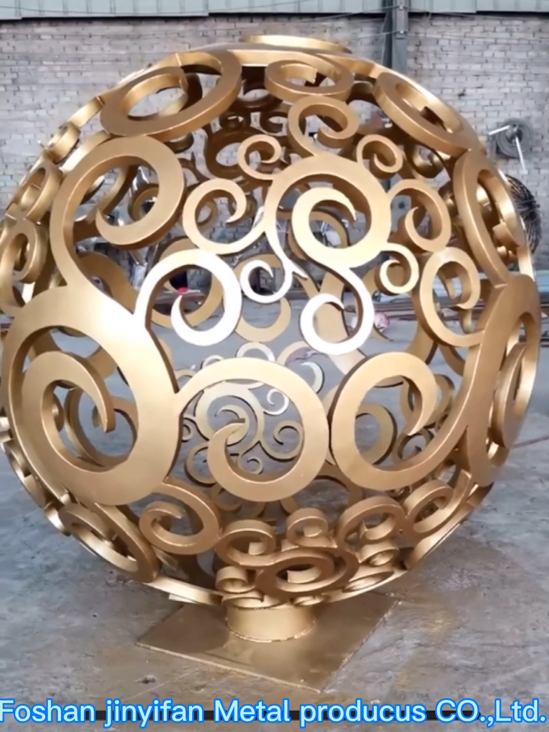 JYF91 Factory Wholesale Metal Ball Mirror Polished Stainless Steel Garden Sphere Sculpture