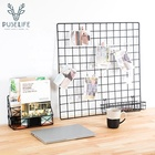 Multifunction Wall Storage Organizer Photo Hanging Display Wire Wall Grid Panel home decor