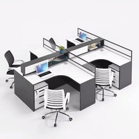 Latest Style Modular 4 person Office cubicle Office Workstation Cubicle