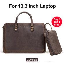 """Сумка из натуральной кожи для ноутбука MacBook Pro/Air 13,3 """", сумка для ноутбука Dell XPS 13,3"""", Surface go/pro, hp specte 13""""(Китай)"""
