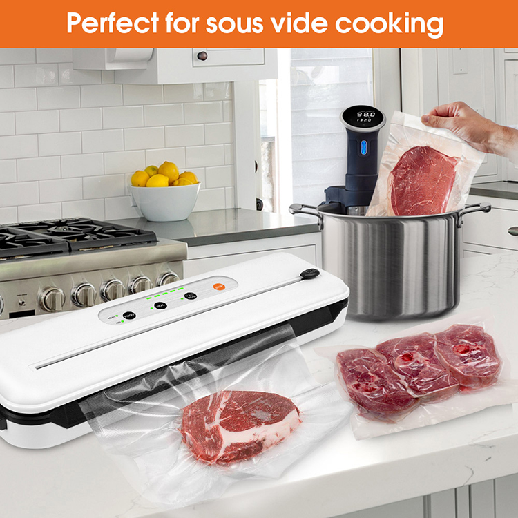 Handheld Vacuum Sealer With Built-in Cutter and BPA Free Vacuum Bags for Food Packaging and Sous Vide Cooking