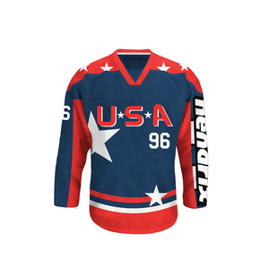 cheap wholesale blank custom Sublimated reversible hockey jerseys