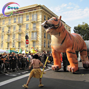 advertising parade giant inflatable tiger