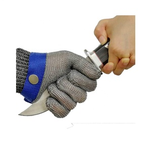 Meat Cutting Fishing Anti Stab Puncture Proof Stainless Steel Metal Mesh Butcher Safety Work Cut Resistant Protective Gloves