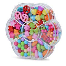 7 балок для детей, для девочек, сделай сам, игрушки, набор бусин, Brinquedo, ожерелье, браслет ручной работы, строительный комплект, макияж, интелле...(Китай)