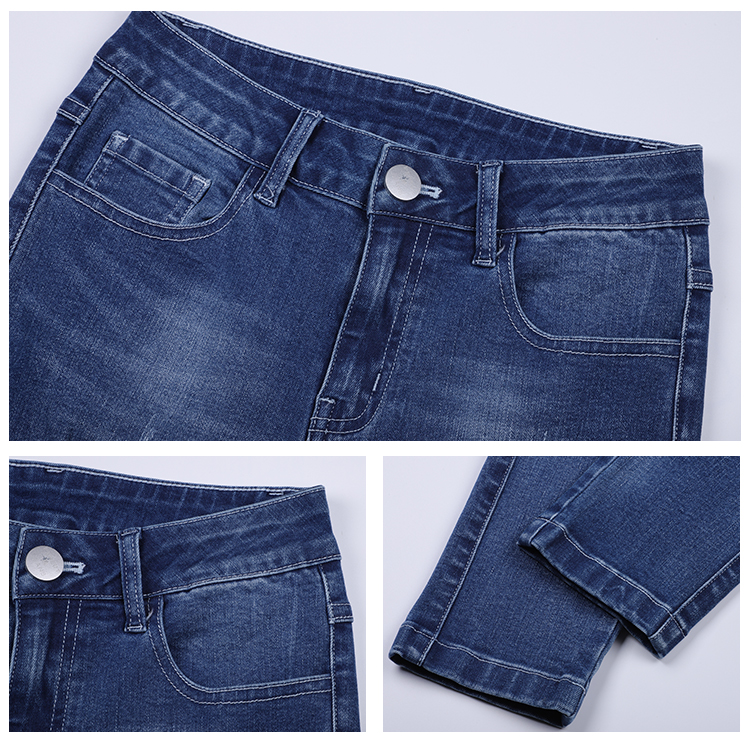 High Stretch Skinny Denim Trousers Wholesale Women Jeans