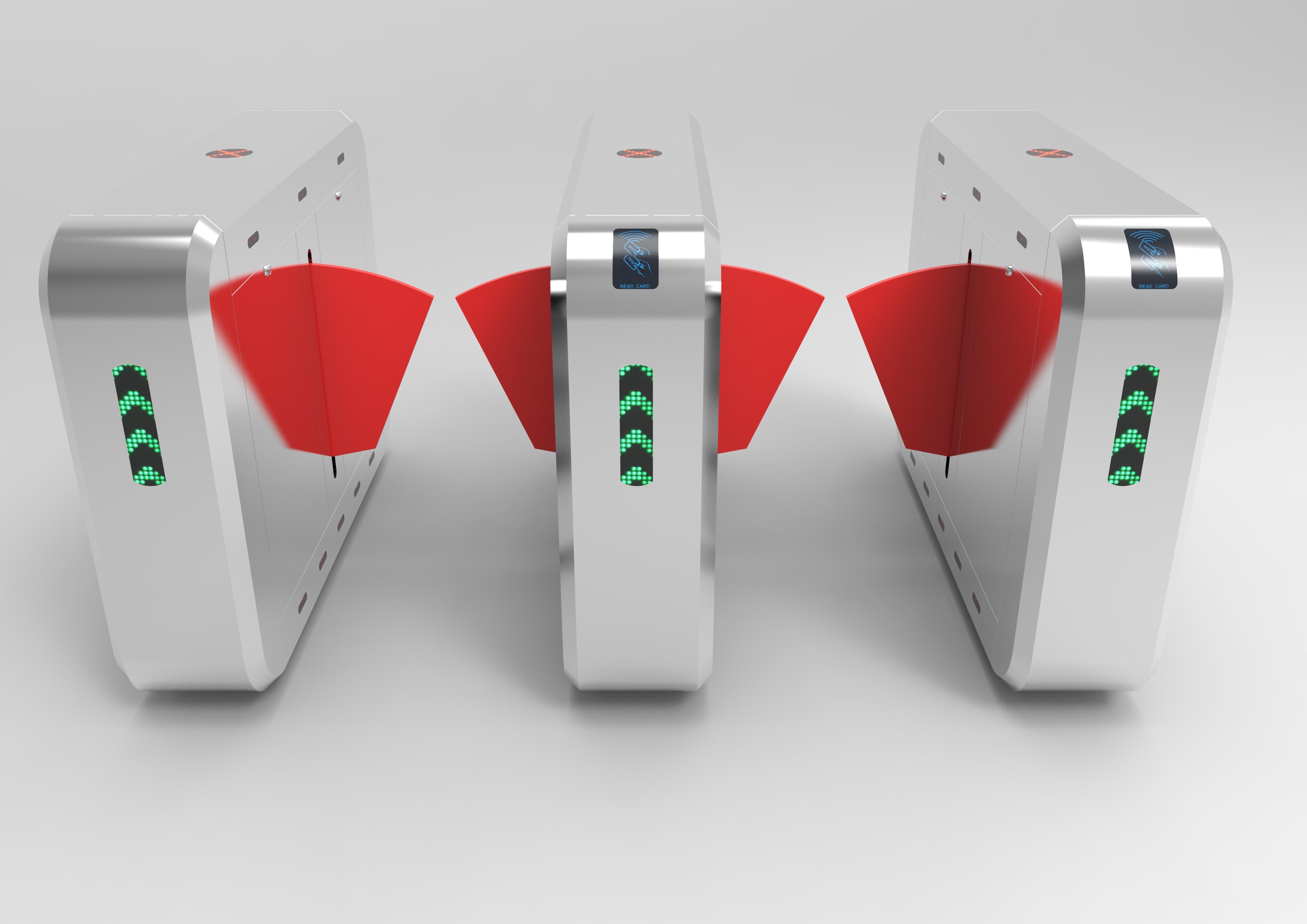 flap barrier QR code access system