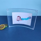 Graphic Customization Photo Frame Picture Hotsale Customized Clear Photo Frame Holder Curved Acrylic Picture Frame 5*7 Inch