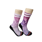 High quality popular unisex standard spandex print sports socks