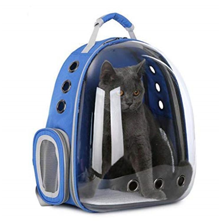 Ademend Duurzaam Luchtvaartmaatschappij Pet Carrier Kat Carrier Rugzak, Twee Side Ventilatie Gaten Mode Carrier Pet Bag