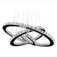 Wholesale Large pendant hanging light Ring dinning room led crystal Chandeliers