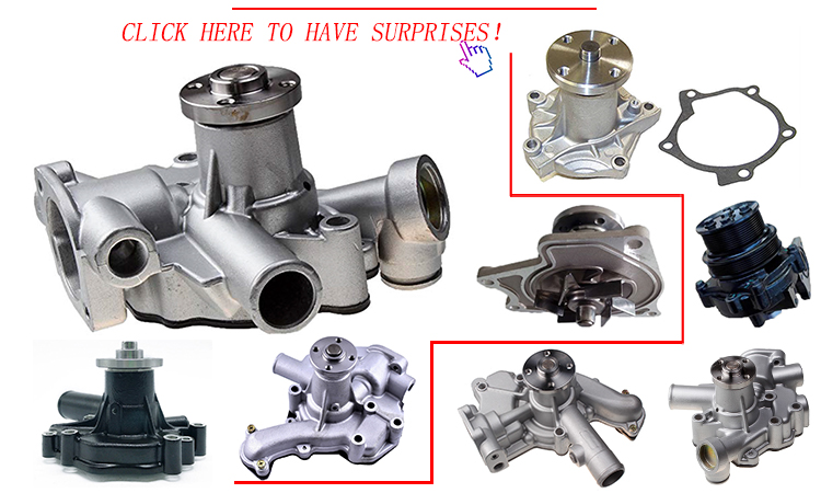 Long life Engine parts ME787131 HD800 6D14 6D15 Excavator HD800 water pump