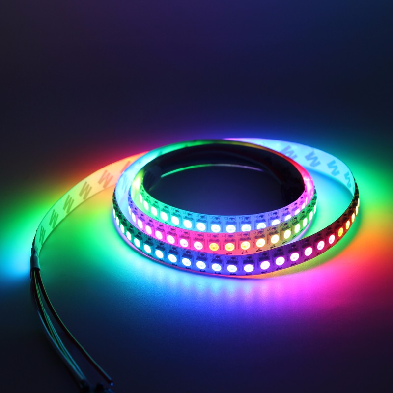ws2812b Addressable Led strip light 5050 <strong>RGB</strong> 5m 150LEDs Flexible Rope Light Dream Color Non-Waterproof 12V