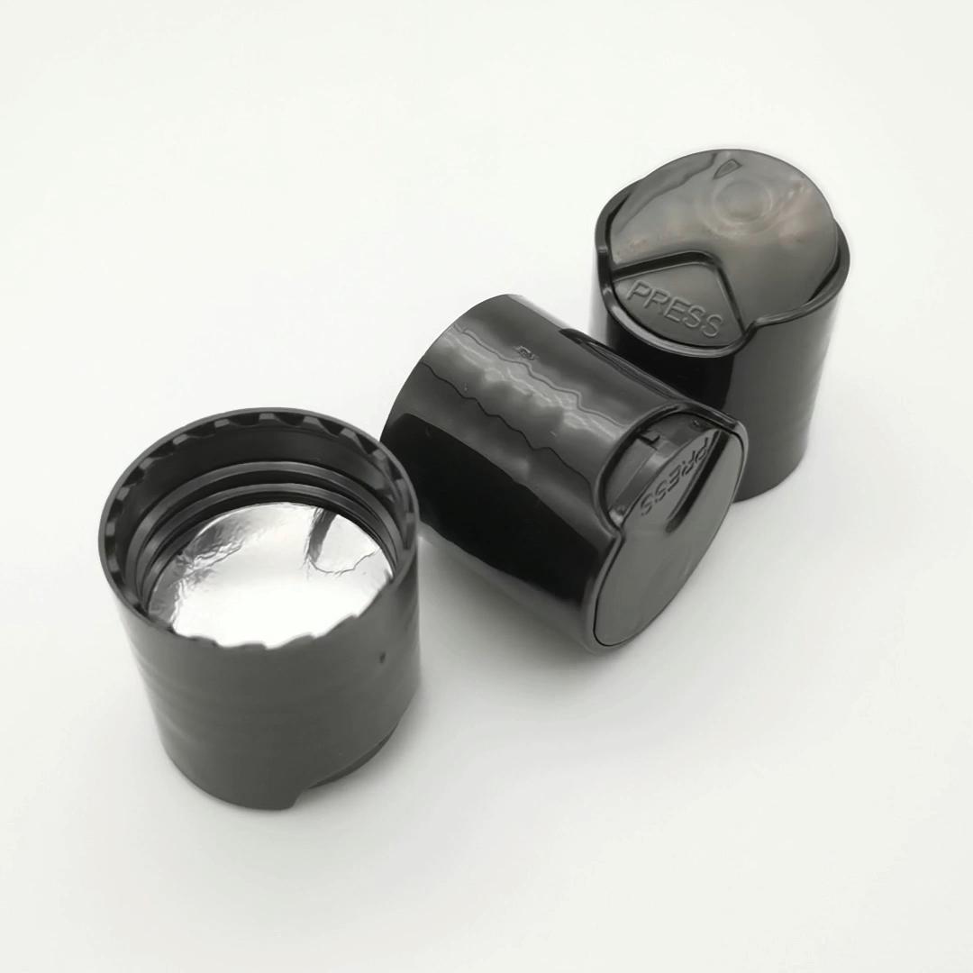 शैंपू की बोतल प्लास्टिक की टोपी के साथ एल्यूमीनियम पन्नी गैसकेट, सफेद डिस्क शीर्ष टोपी, डिस्क टोपी, 20-410,24-410,28-410