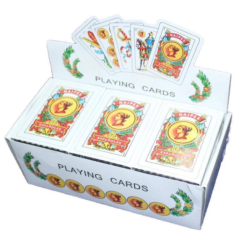 2019 di alta qualità oem servizio spagnolo carte da gioco di plastica