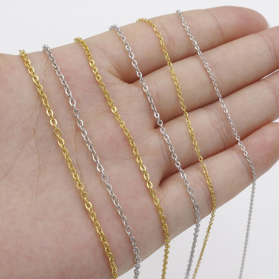 1.5mm Haute Poli en acier inoxydable collier extender charin Câble Chaînes collier 40cm