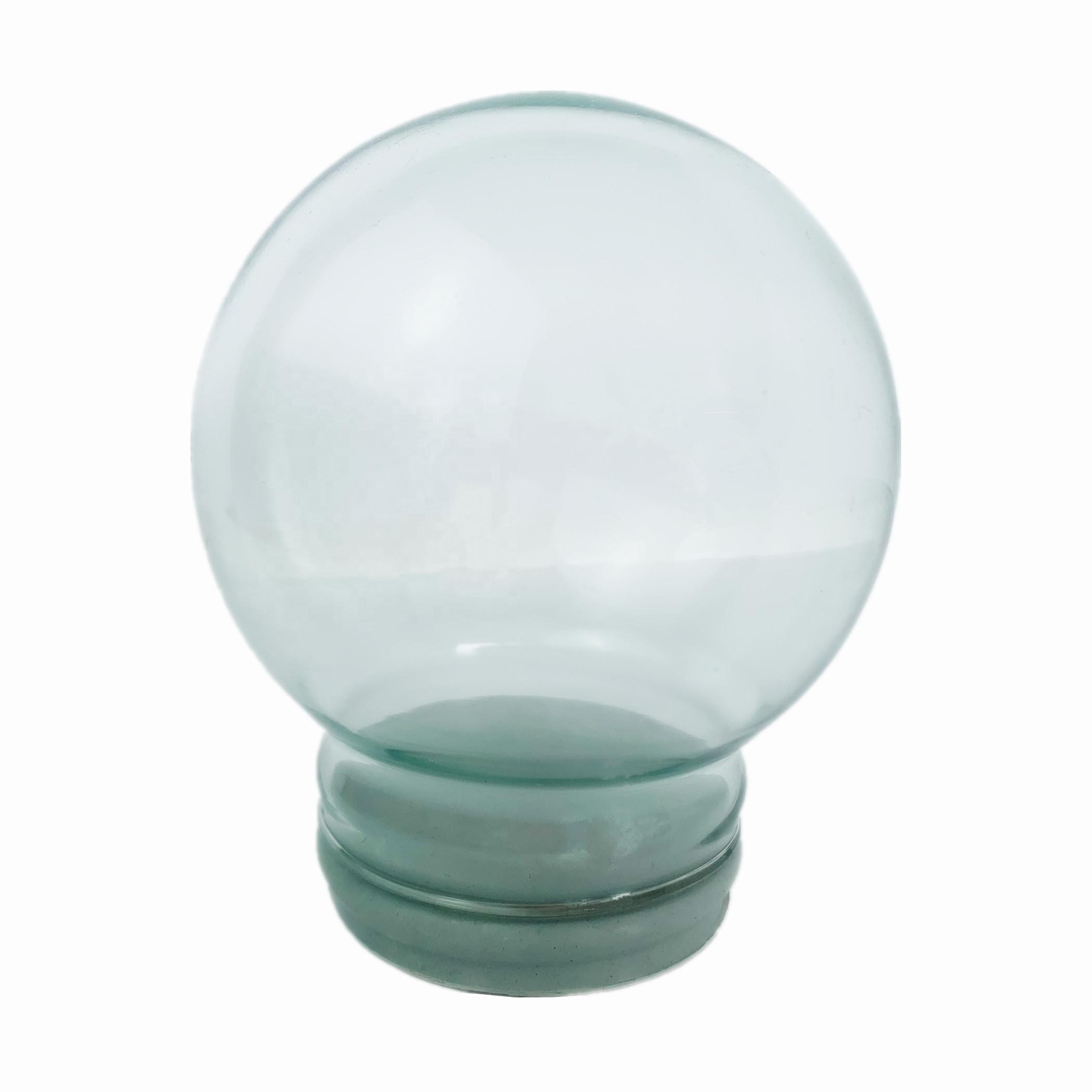 DIY Empty glass snow globe with 120mm diameter / Wholesales empty water snow globe for decoration