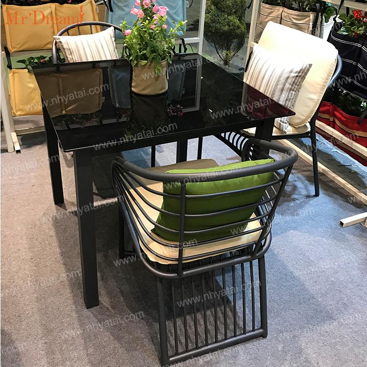 Mr.Dream wholesale stackable high quality aluminum garden treasure patio balcony furniture sets(accept customized)