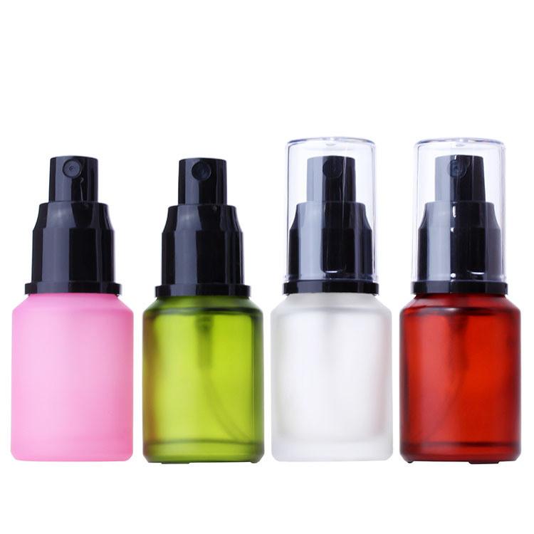 Angepasst 30ml 60ml matt/klar rosa grün rot klar Schräge Schulter kosmetische glas spray flasche