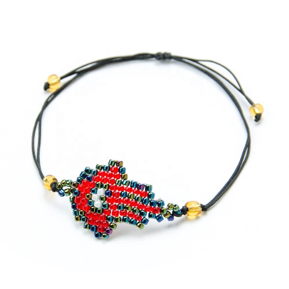 New Seed Beads Stainless Steel Miyuki Woven Palm Bracelet