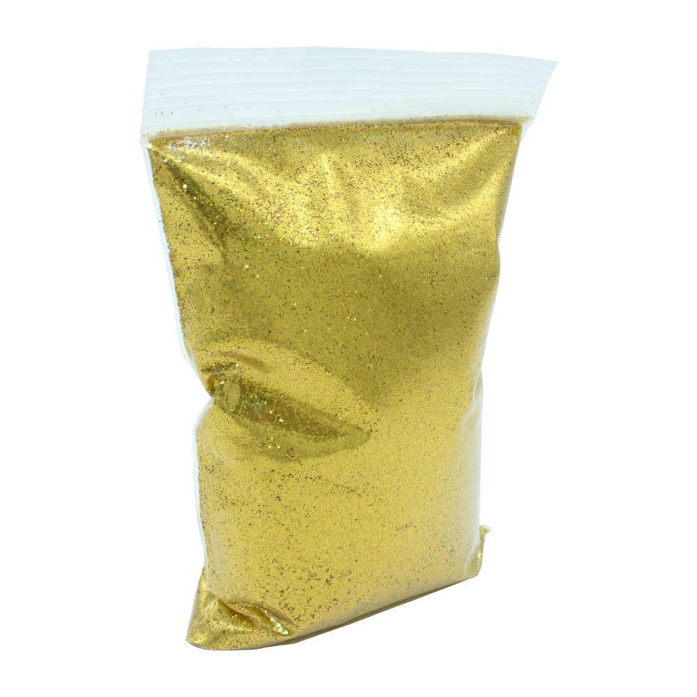 Hot Selling fine 1kg bag packing bulk polyester glitter powder for crafts