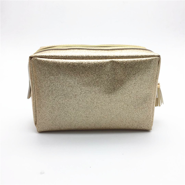 China manufacturer travel toiletry case fashion women Glitter cosmetic bag
