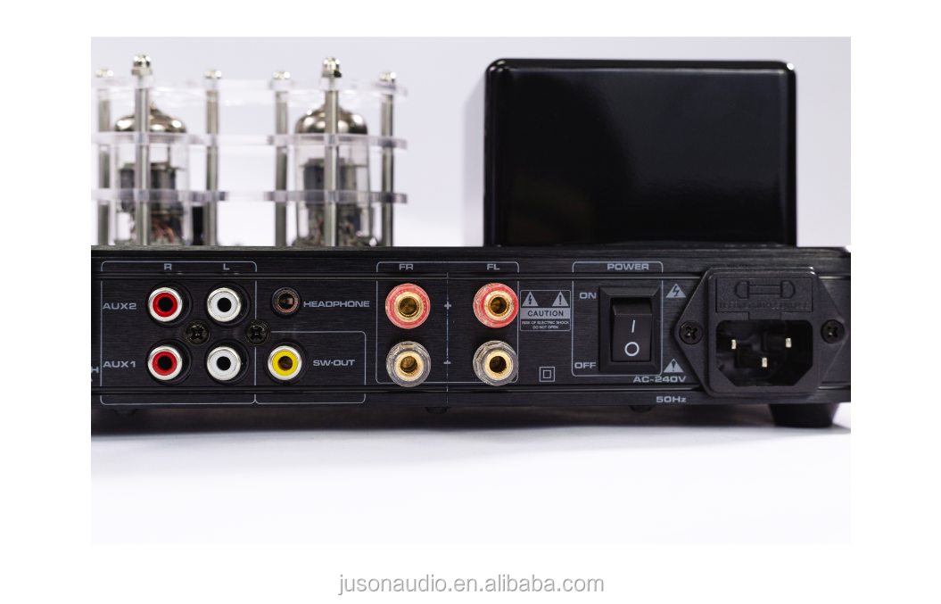 Bluetooth Stereo Amplifier Tabung dengan USB/Bt/AUX/Sub, Amplifier Tabung Kit