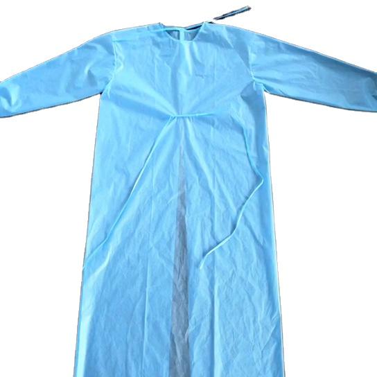 Hastane doktoru AAMI seviye 2 sarı PP SMS hasta tek kullanımlık izolasyon elbiseleri fiyat listesi