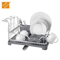 Wholesale Aluminum Dish Rack Kitchen Organization Kitchen Racks and Holders Drying Rack Dish Dish Organizer