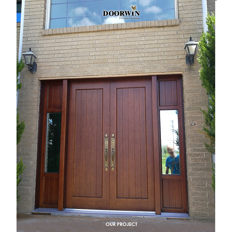 2020 Latest Design 100% testimonials High quality Customized Solid Wood Door from Doorwin
