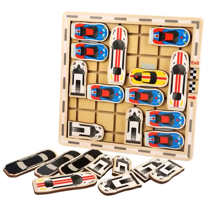 2020 New Educational Toy Multilayer Logical Thinking Wooden Puzzle Move Car Escape The Parking Maze Game