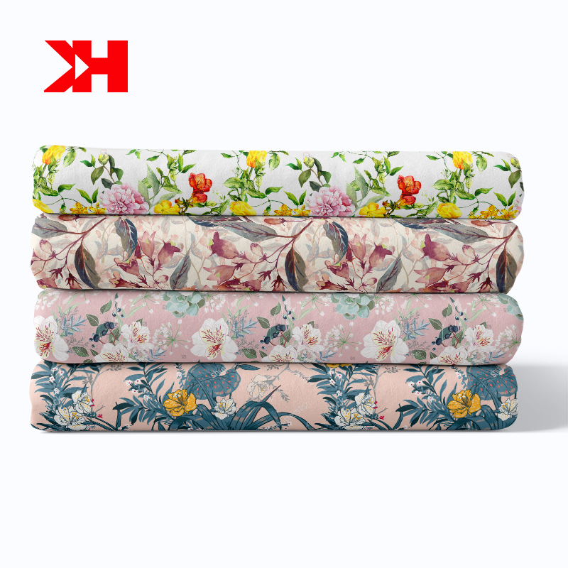 High grade pima printed floral skirt or dress cotton fabric cotton liberty fabric