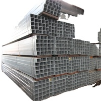 hot dip galvanized steel rectangular / square tube / construction pipe/ square hollow section/ SHS