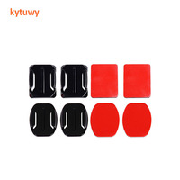 Camera Accessories 2pcs Flat + 2pcs Curved Adhesive Mount + 4pcs Sticker for Go Pro 7/6/5 Action Video Camera