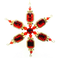 Christmas decoration jewel plastic acrylic crystal snowflake ornament