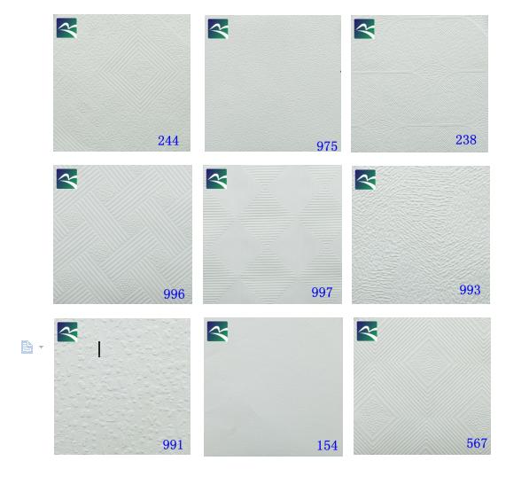 Vinyl Gecoat 60x60 PVC Gelamineerd Gips Plafond Tegels Voor India New Delhi Markt