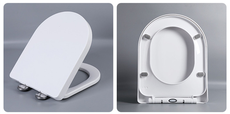 Bathroom white color PP soft close toilet seat cover