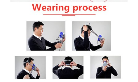 TZCP-5350  High quality Industrial half face gas mask with filter portable respirator