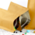 Three sides sealed kraft paper foil bag with zipper
